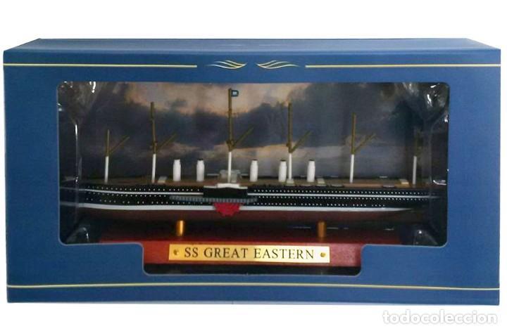 Maquetas: Maqueta montada en metal del Transatlántico Great Eastern, Gran Bretaña, 1860, 1:1250 - Foto 2 - 213482598