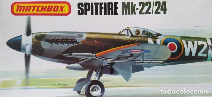 Maquetas: Spitfire Mk-22/24 1:32 Matchbox 1975. Nuevo - Foto 3 - 213575872