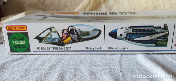 Maquetas: Spitfire Mk-22/24 1:32 Matchbox 1975. Nuevo - Foto 4 - 213575872