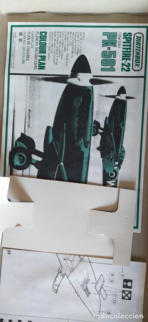 Maquetas: Spitfire Mk-22/24 1:32 Matchbox 1975. Nuevo - Foto 13 - 213575872