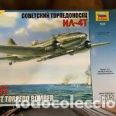 Maquetas: ZVEZDA - SOVIET TORPEDO BOMBER IL 4T 1/72 7223. Lote 213590168