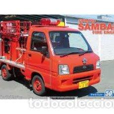 Maquetas: AOSHIMA - SUBARU SAMBAR FIRE ENGINE 1/24 50. Lote 213830015