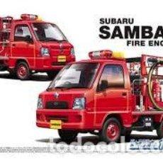 Maquetas: AOSHIMA - SUBARU SAMBAR FIRE ENGINE 1/24 119. Lote 213830048