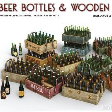 Maquetas: BEER BOTTLES & WOODEN CRATES. MINIART. 1/35. Lote 214090252