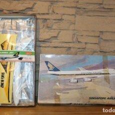 Maquetas: ANTIGUA MAQUETA JUMBO B747 DE SINGAPORE AIRLINES - NUEVA Y PRECINTADA - MADE IN JAPAN - LANDEX. Lote 214107647