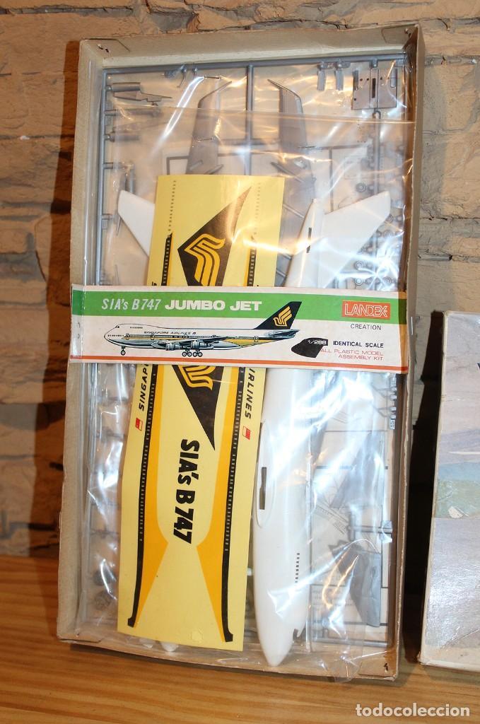Maquetas: ANTIGUA MAQUETA JUMBO B747 DE SINGAPORE AIRLINES - NUEVA Y PRECINTADA - MADE IN JAPAN - LANDEX - Foto 2 - 214107647
