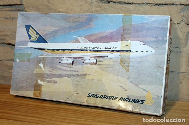 Maquetas: ANTIGUA MAQUETA JUMBO B747 DE SINGAPORE AIRLINES - NUEVA Y PRECINTADA - MADE IN JAPAN - LANDEX - Foto 3 - 214107647