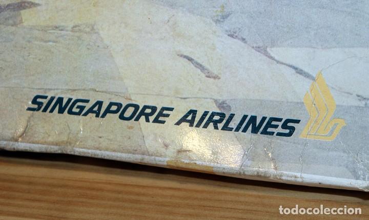Maquetas: ANTIGUA MAQUETA JUMBO B747 DE SINGAPORE AIRLINES - NUEVA Y PRECINTADA - MADE IN JAPAN - LANDEX - Foto 4 - 214107647