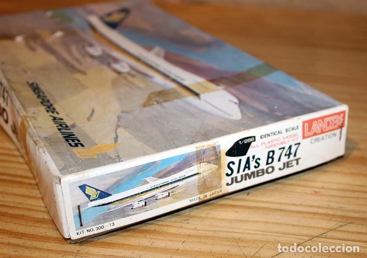 Maquetas: ANTIGUA MAQUETA JUMBO B747 DE SINGAPORE AIRLINES - NUEVA Y PRECINTADA - MADE IN JAPAN - LANDEX - Foto 5 - 214107647
