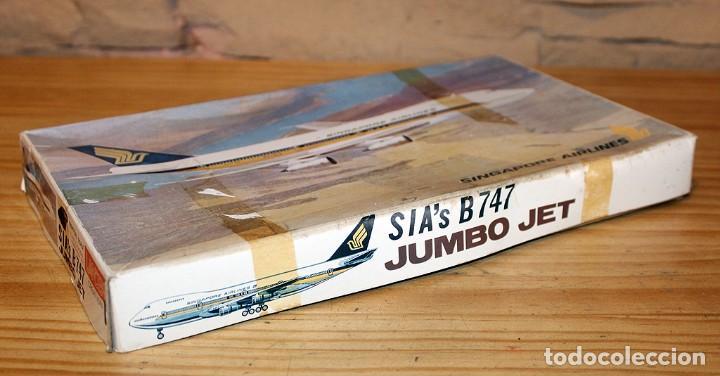 Maquetas: ANTIGUA MAQUETA JUMBO B747 DE SINGAPORE AIRLINES - NUEVA Y PRECINTADA - MADE IN JAPAN - LANDEX - Foto 8 - 214107647