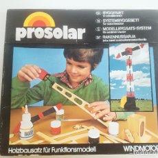 Maquetas: PROSOLAR - WINDMOTOR - MODELBAU SYSTEM 1970'S/80'S // JUEGO CONSTRUCCION ALEMAN MAQUETA VINTAGE. Lote 214289143