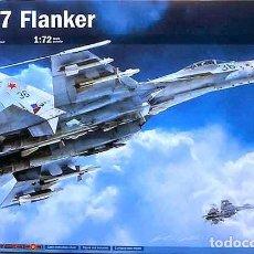Maquetas: MAQUETA DEL CAZA RUSO SUJOI SU-27 FLANKER DE ITALERI A ESCALA 1/72. Lote 214446763