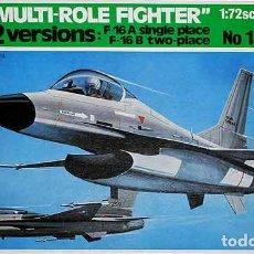 Maquetas: MAQUETA DEL CAZA NORTEAMERICANO MULTIROL GENERAL DYNAMICS F-16A/B DE ITALERI A 1/72 (SEMIVINTAGE). Lote 214447887