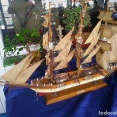 Maquetas: MAQUETA BARCO CLIPPER SIGLO XIX DE MADERA NO KIT 80 CM CAÑONES LANCHAS. Lote 214734801