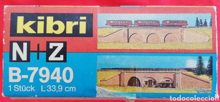 Maquetas: PUENTE DE 3 ARCOS CON NEGOCIO - MODELISMO FERROVIARIO - KIBRI N + Z - RF. 7120 - PJRB - Foto 3 - 214926118