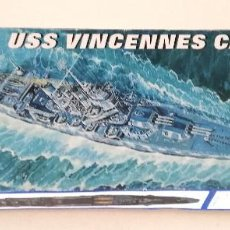 Maquetas: MAQUETA USS VINCENNES CA 44 TRUMPETER ESCALA 1/700 INSTRUCCIONES Y PEGATINAS. Lote 215160188