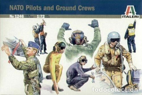 1246 ITALERI 1/72 NATO PILOTS AND GROUND CREW / PILOTOS Y PERSONAL AEREO DE LA OTAN (Juguetes - Modelismo y Radiocontrol - Maquetas - Militar)
