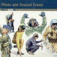 Maquetas: 1246 ITALERI 1/72 NATO PILOTS AND GROUND CREW / PILOTOS Y PERSONAL AEREO DE LA OTAN. Lote 215393638