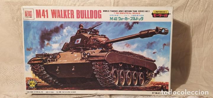 TANQUE M41 WALKER BULLDOG DE OTAKI MOTORIZADO.ESCALA 1/42. AÑOS 70. NUEVO A ESTRENAR (Juguetes - Modelismo y Radiocontrol - Maquetas - Militar)
