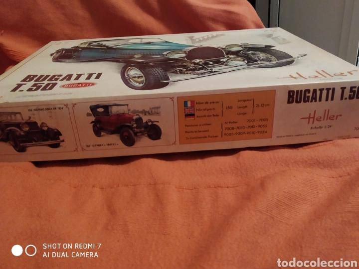 Maquetas: Antigua maqueta Heller bugatti t.50 escala 1/24 nueva - Foto 4 - 216397311