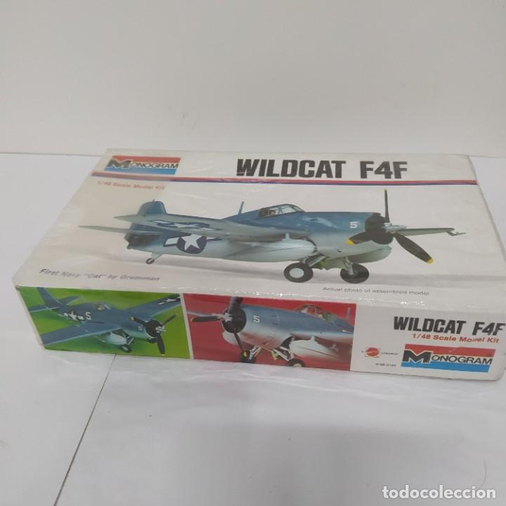 Maquetas: Monogram Wildcat F4F escala 1/46. Nuevo - Foto 2 - 216441415