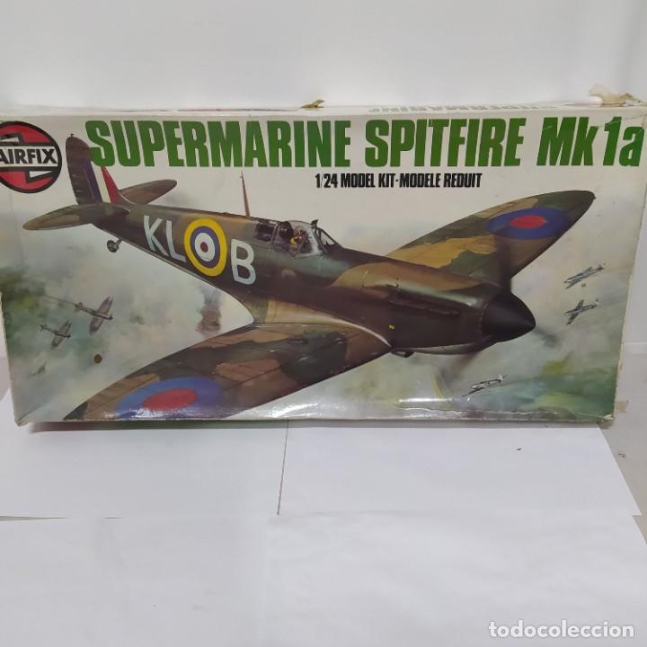 AVIÓN SUPERMARINE SPITFIRE MK1A DE AIRFIX.ESCALA 1/24 NUEVO (Juguetes - Modelismo y Radio Control - Maquetas - Aviones y Helicópteros)