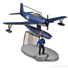 Maquetas: TINTIN HIDROAVION AZUL BLUE SEAPLANE (THE RED SEA SHARKS) - 8 X 15 X 14.CM NUEVO. Lote 242903725