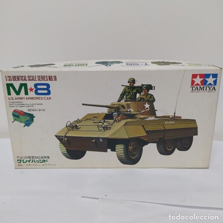 M8 ARMOURED CAR GREY HOUND CON MOTOR ELÉCTRICO. TAMIYA 1960.NUEVO SIN ABRIR (Juguetes - Modelismo y Radiocontrol - Maquetas - Militar)
