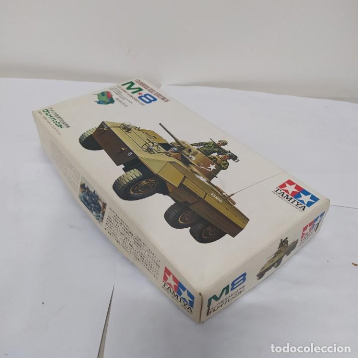 Maquetas: M8 armoured car grey Hound con motor eléctrico. Tamiya 1960.Nuevo sin abrir - Foto 3 - 216711075