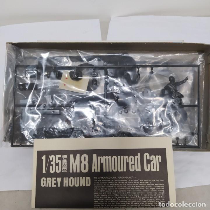 Maquetas: M8 armoured car grey Hound con motor eléctrico. Tamiya 1960.Nuevo sin abrir - Foto 4 - 216711075