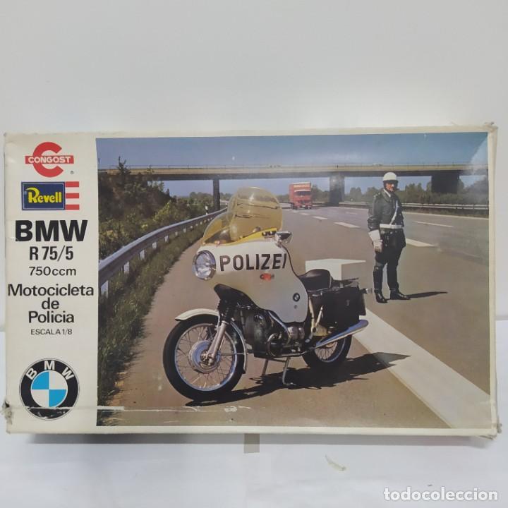 BMW R 75/5 750CC POLICÍA. AÑOS 70. REVELL CONGOST. 1/8. NUEVA, SIN ABRIR (Juguetes - Modelismo y Radiocontrol - Maquetas - Coches y Motos)