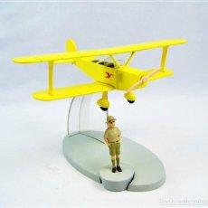 Maquettes: TINTIN BIPLANO AMARILLO (TINTÍN EN EL CONGO) NUEVO. Lote 233611180