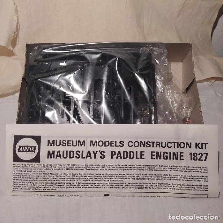 Maquetas: Maudslays Paddle engine 1827 Airfix.1968. Motor eléctrico. Nuevo y completo - Foto 3 - 217047502