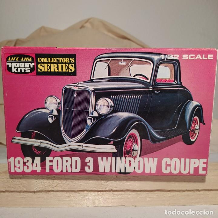 1934 FORD 3 WINDOW COUPE HOBBY KITS 1/32. AÑO 1975. NUEVO SIN ABRIR (Juguetes - Modelismo y Radiocontrol - Maquetas - Coches y Motos)
