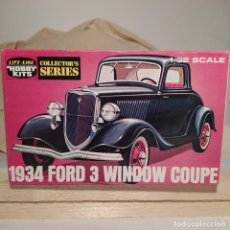 Maquetas: 1934 FORD 3 WINDOW COUPE HOBBY KITS 1/32. AÑO 1975. NUEVO SIN ABRIR. Lote 217282210
