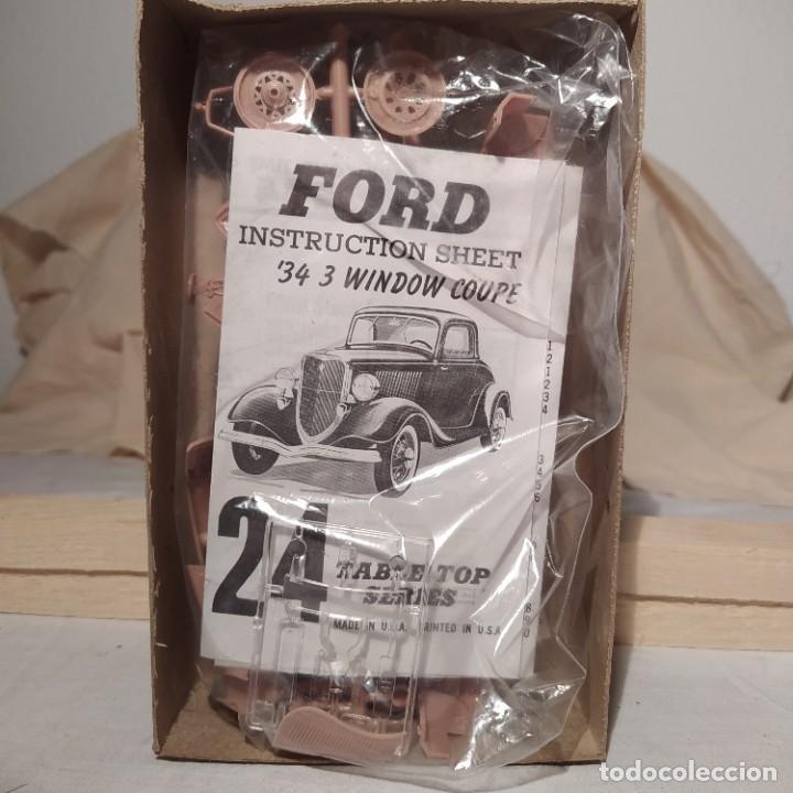 Maquetas: 1934 Ford 3 window Coupe Hobby kits 1/32. Año 1975. Nuevo sin abrir - Foto 3 - 217282210