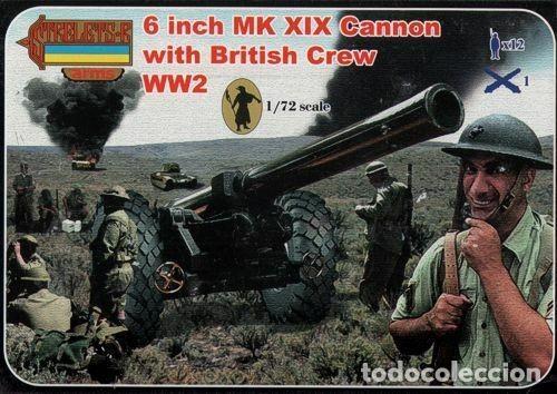 A004 STRELETS 1/72 WW II , 6 INCH MK XIX CANNON WITH BRITISH CREW (Juguetes - Modelismo y Radiocontrol - Maquetas - Militar)