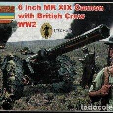 Maquetas: A004 STRELETS 1/72 WW I, 6 INCH MK XIX CANNON WITH BRITISH CREW. Lote 217558801