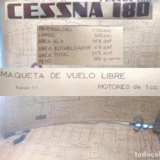 Maquetas: PLANOS MAQUETA - AVIONETA CESSNA 180 ESC:1:1 MOTORES 1CC-VUELO LIBRE AÑOS 50/60-AVION CONSTRUCCION. Lote 217804881
