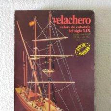Maquetas: CONSTRUCTO - VELACHERO, VELERO DE CABOTAJE DEL SIGLO XIX - REF U.602 - ESCALA 1:120 - SIN USO.. Lote 217896676