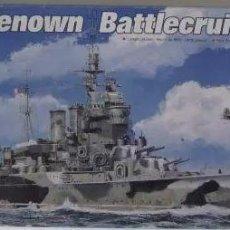 Maquetas: ACORAZADO INGLES HMS RENOWN 1942 II GUERRA MUNDIAL TRUMPETER 1/700. A ESTRENAR COMPLETO-PRECINTADO. Lote 218230198