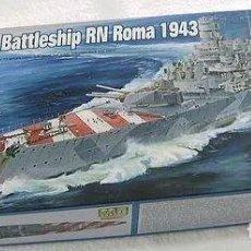 Maquetas: ACORAZADO ITALIANO ROMA 1943 II GUERRA MUNDIAL TRUMPETER 1/700. A ESTRENAR COMPLETO-PRECINTADO. Lote 218241790