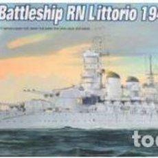 Maquetas: ACORAZADO ITALIANO LITTORIO 1941 II GUERRA MUNDIAL TRUMPETER 1/700.A ESTRENAR COMPLETO-PRECINTADO. Lote 218243585