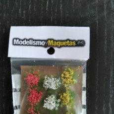 Maquettes: JUEGO VARIADO DE FLORES ROJAS BLANCAS Y AMARILLAS 1/35/48. Lote 218262260