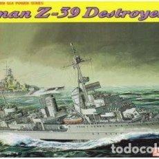 Maquetas: DESTRUCTOR GERMAN DESTROYER Z39 II GUERRA MUNDIAL DRAGON 1/700.A ESTRENAR COMPLETO-PRECINTADO. Lote 218274303