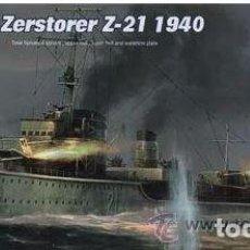 Maquetas: DESTRUCTOR ALEMAN ZERSTORER Z-21 1940 II GUERRA MUNDIAL TRUMPETER 1/700.ESTRENAR COMPLETO-PRECINTADO. Lote 218275133