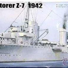 Maquetas: DESTRUCTOR ALEMAN ZERSTORER Z-7 1942 II GUERRA MUNDIAL TRUMPETER1/700-A ESTRENAR COMPLETO-PRECINTADO. Lote 218275937