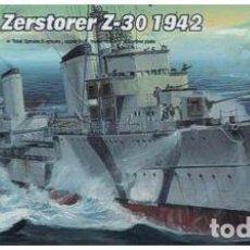 Maquetas: DESTRUCTOR ALEMAN ZERSTORER Z-30 1942 II GUERRA MUNDIAL TRUMPETER1/700- ESTRENAR COMPLETO-PRECINTADO. Lote 218276967