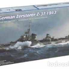 Maquetas: DESTRUCTOR ALEMAN ZERSTORER Z-37 1943 II GUERRA MUNDIAL TRUMPETER1/700- ESTRENAR COMPLETO-PRECINTADO. Lote 218279095