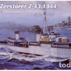 Maquetas: DESTRUCTOR ALEMAN ZERSTORER Z-43 1944 II GUERRA MUNDIAL TRUMPETER1/700- ESTRENAR COMPLETO-PRECINTADO. Lote 218281035
